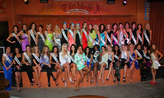 Miss USA contestants at Diablo's Cantina at Monte Carlo in Las Vegas