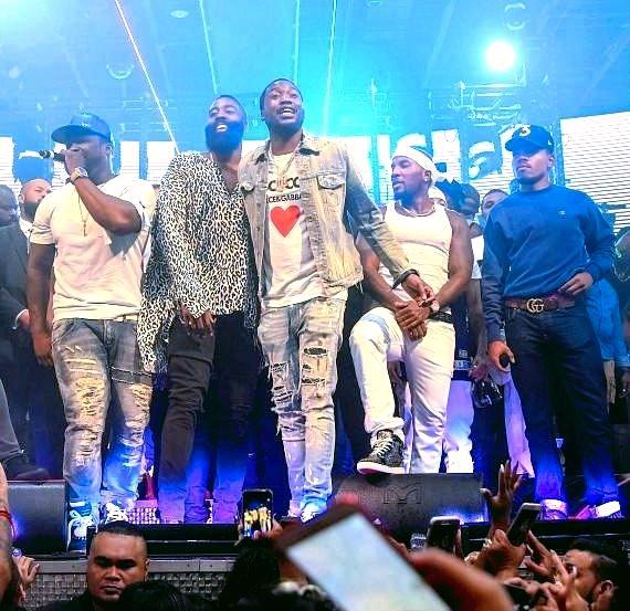 50 Cent, James Harden, Meek Mill, Jeezy and Chance The Rapper Fight Weekend at Drai's Nightclub Las Vegas