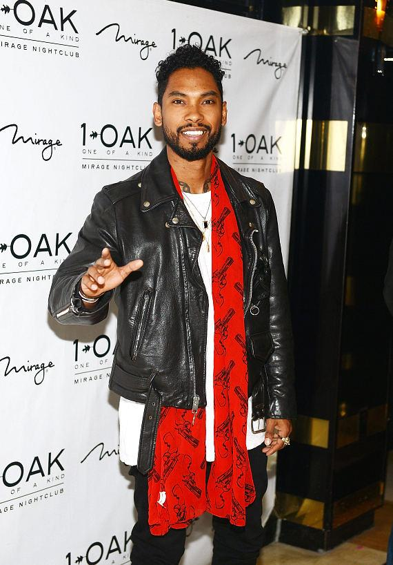 Miguel arrives at 1 OAK Nightclub at the Mirage on March 13, 2015 in Las Vegas, Nevada