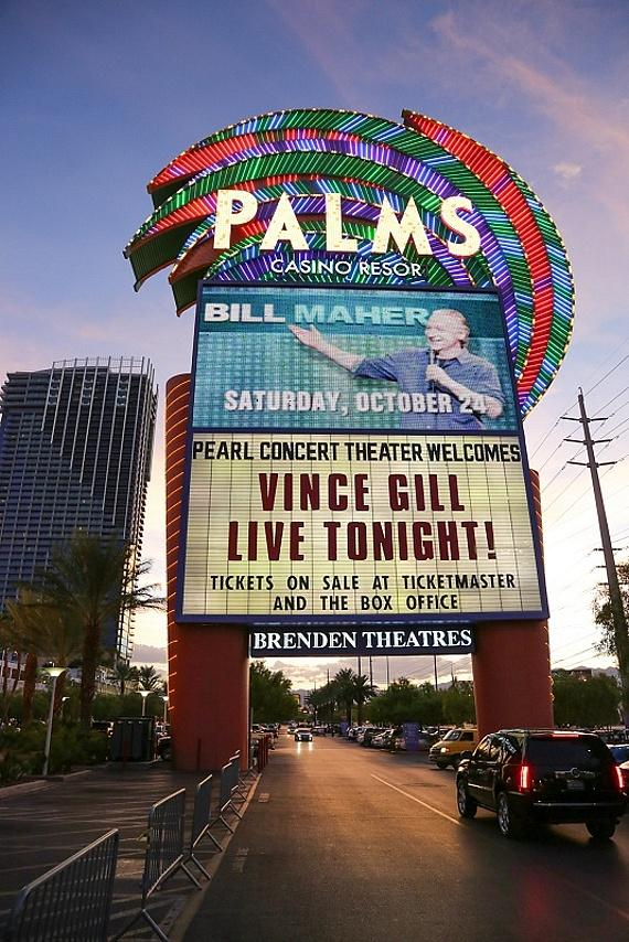 Vince Gill on The Palms marquee
