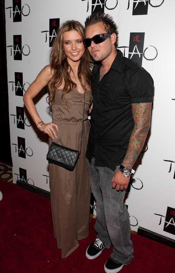 "Audrina Patridge of ""The Hills"" and brother Mark Jr. at TAO in The Venetian"