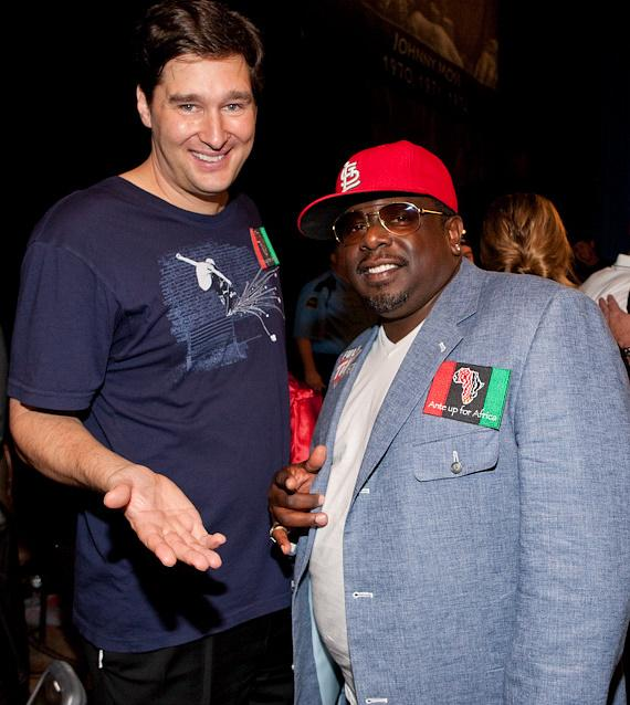 Phil Hellmuth and Cedric the Entertainer
