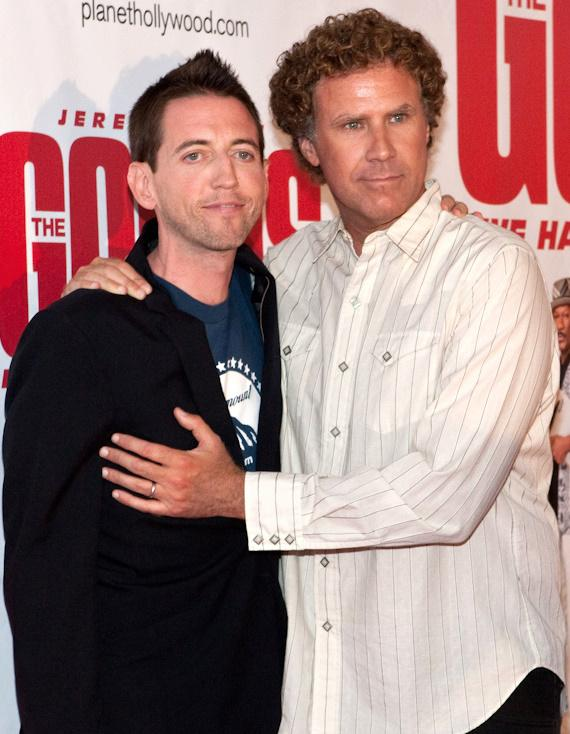 Will Ferrell (right) with Film Director Neal Brennan