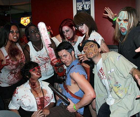 Cast members of Evil Dead The Musical