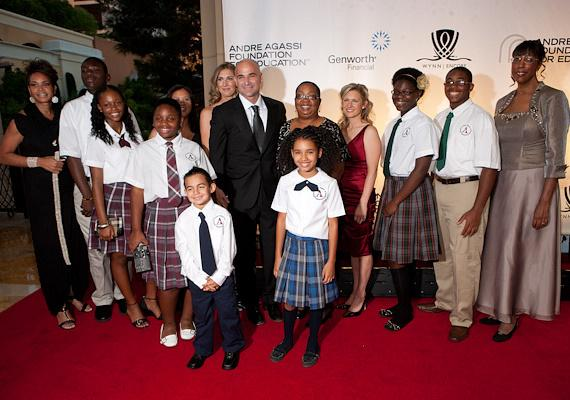 Andre Agassi College Preparatory Academy staff and students