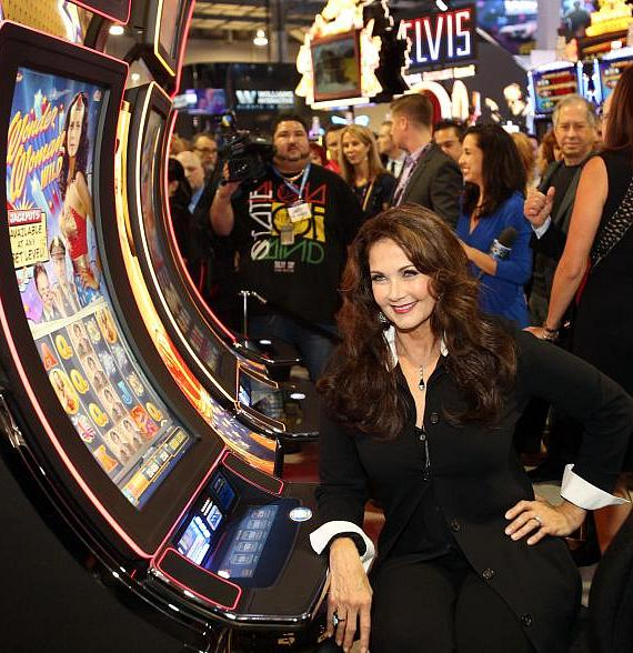 Wonder Woman star Lynda Carter visited Bally Technologies' Global Gaming Expo (G2E) booth in Las Vegas on September 30 to unveil two new video slot games based on her famous role as the famed DC Comics Super Hero in the classic 1970s hit TV series - Wonder Woman Wild and Wonder Woman Gold.