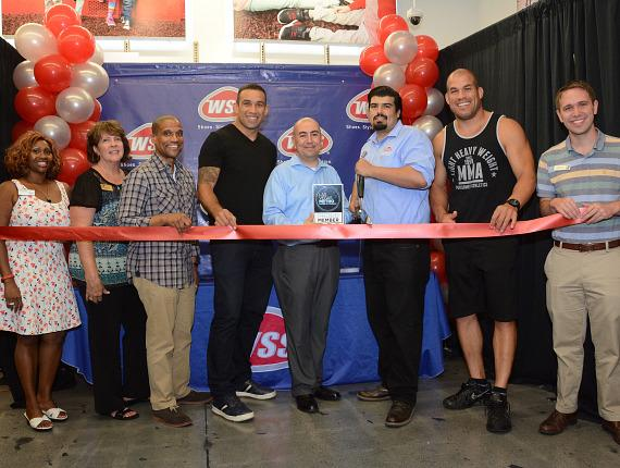 Haircuts & Heavyweight Champs: WSS Hosts Grand Opening