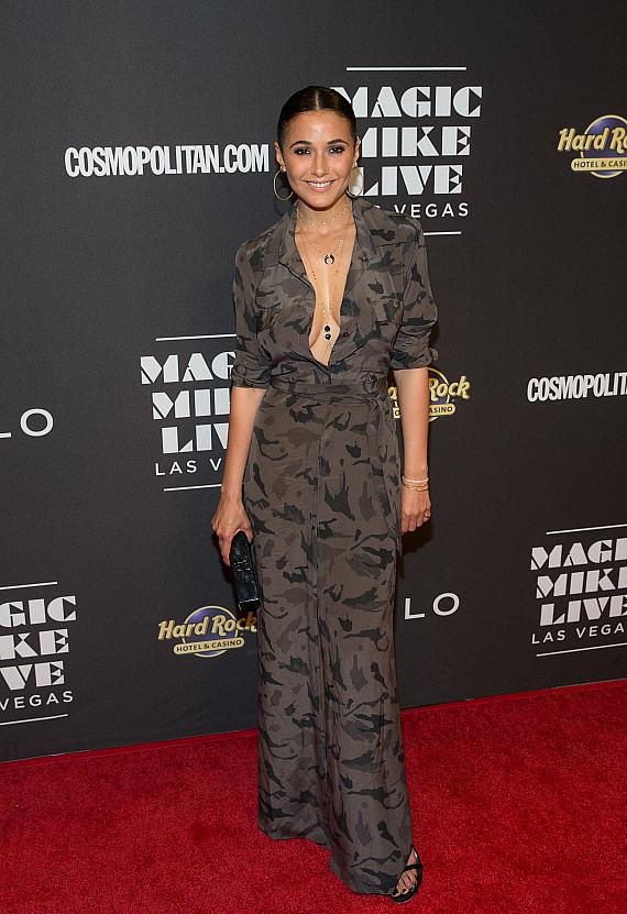 Actress Emmanuelle Chriqui Attends Opening Night of MAGIC MIKE LIVE LAS VEGAS at Hard Rock Hotel & Casino