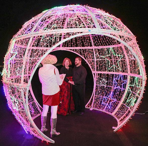 Montana Couple Tied the Knot at Glittering Lights at Las Vegas Motor Speedway on Christmas Day