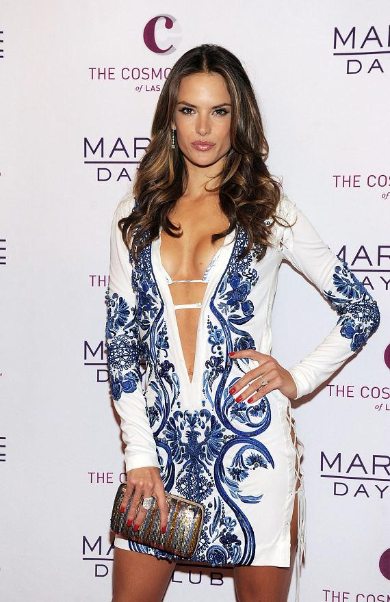 Alessandra Ambrosio at Marquee Dayclub red carpet