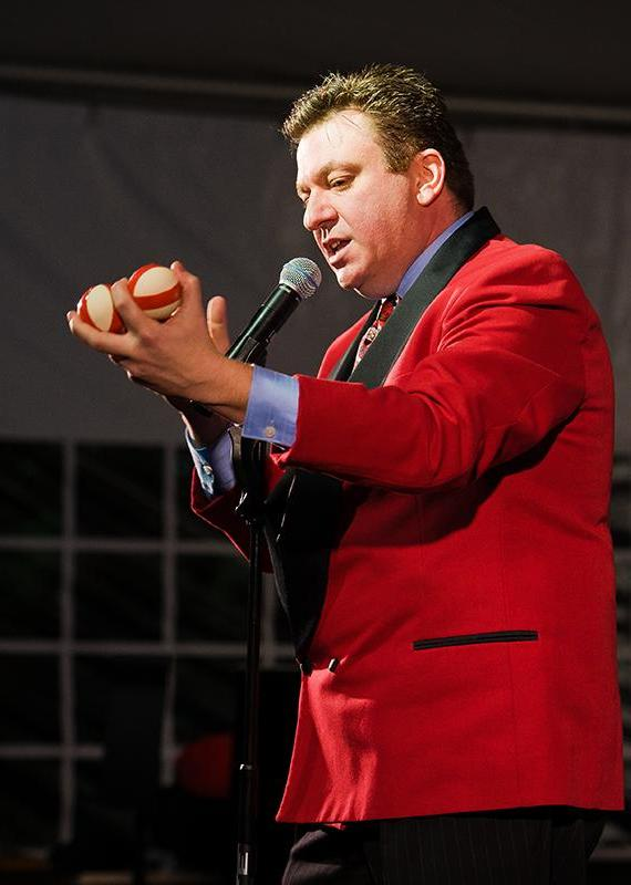 Kyle Night of Knight Magic performs at Opportunity Village