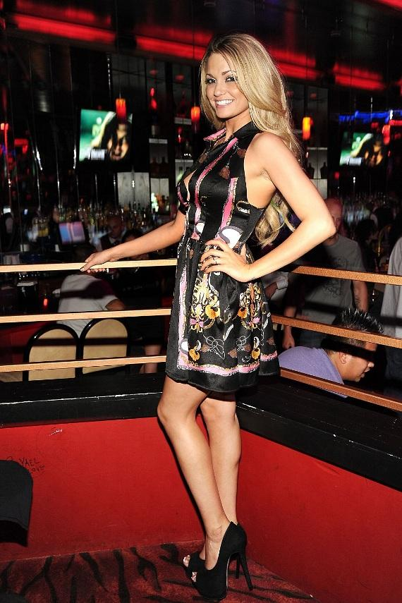 Angel Porrino looks beautiful inside the packed club