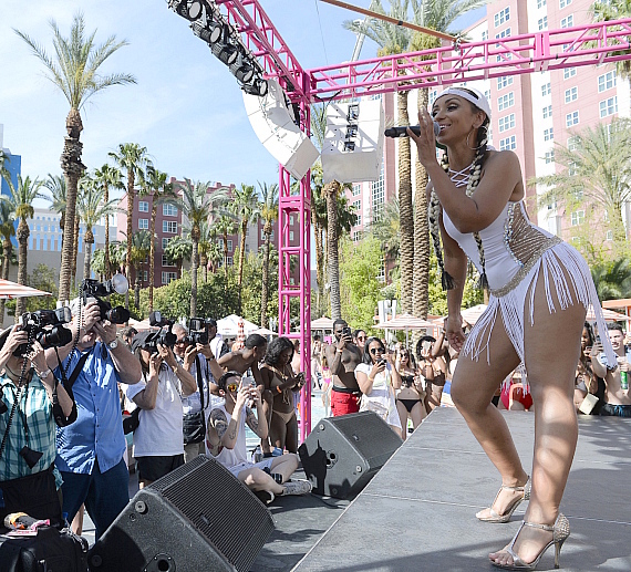 Mya Performs Live at The Flamingo GO Pool in Las Vegas
