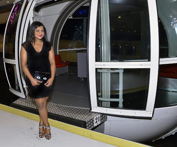 """Mindy Kaling from """"The Mindy Project"""" rides The High Roller"""