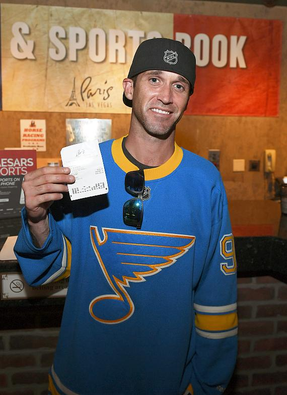 Berry's friend Brandon Chapel placed a $200 wager and collected his winnings $50,200