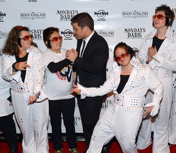 Mark Shunock with kids from Opportunity Village performing as Elvis