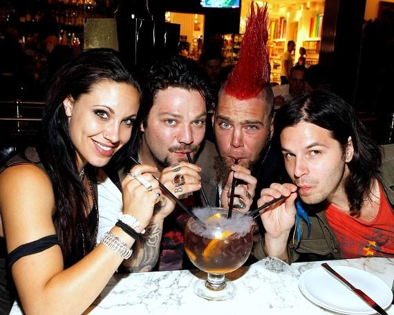 Bam Margera and friends sipping the Grape Crush Goblet