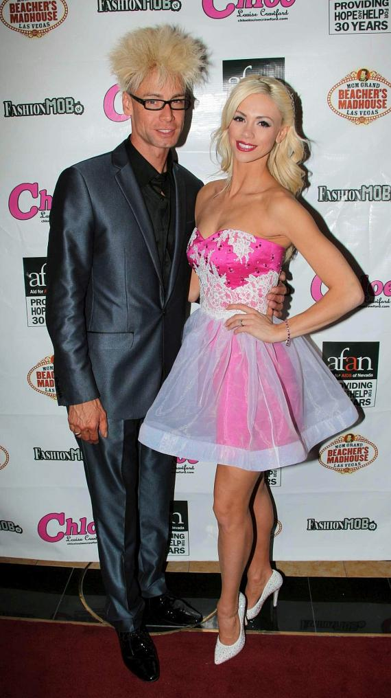 Chloe Crawford with husband Murray SawChuck at Beacher's Madhouse in Las Vegas