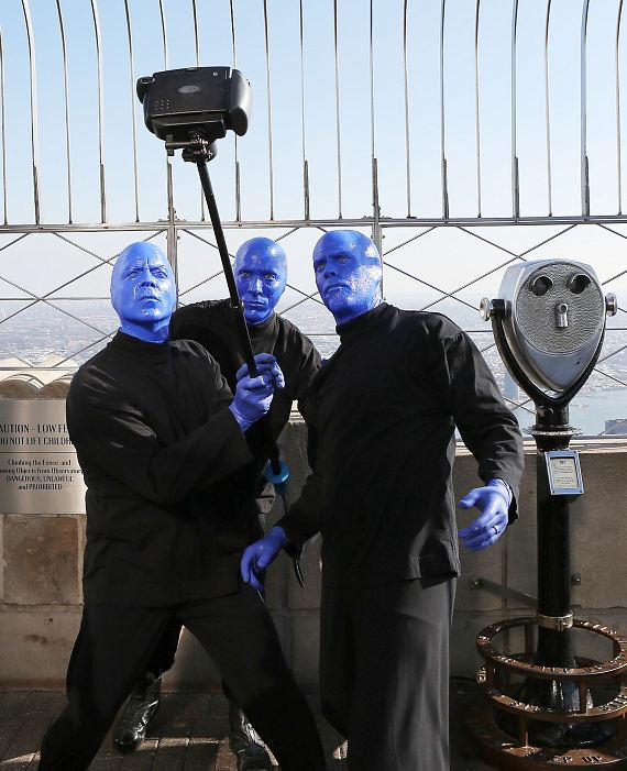 Blue Man Group ceremonial lighting of the Empire State Building in blue