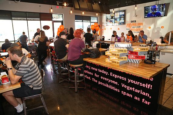BurgerIM's opening day guests filled the restaurant and gave the food great reviews
