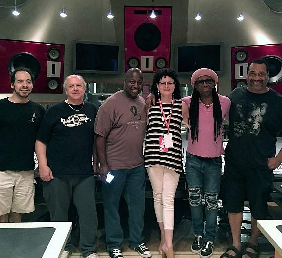 Russell Graham (keys/vocals), Richard Hilton (keys/vocals), Ralph Rolle (drums/vocals), Studio at the Palms Director Zoe Thrall, Nile Rodgers and Jerry Barnes (bass)