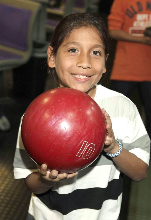 CISN student at bowling event
