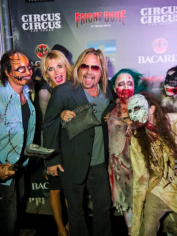 Motley Crue frontman Vince Neil at Fright Dome in Las Vegas