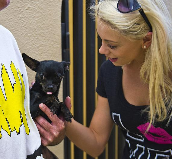 Chloe with puppy at Friends For Life Shelter