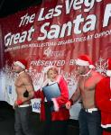 Mayor Carolyn Goodman with Chippendales dancers