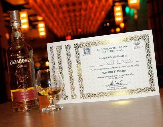 CRT Certificate for Dos Caminos Las Vegas Employees