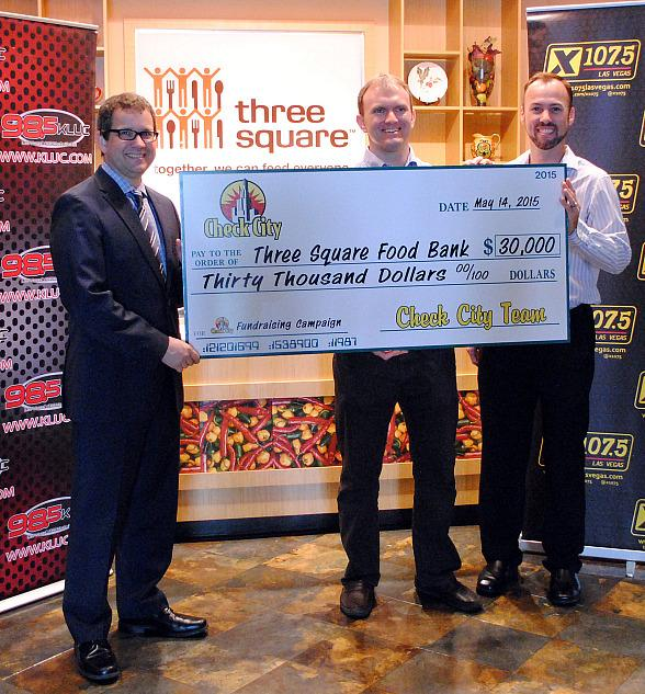 Three Square receives $30,000 and 3,066 pounds of food from 30 Las Vegas Check City locations