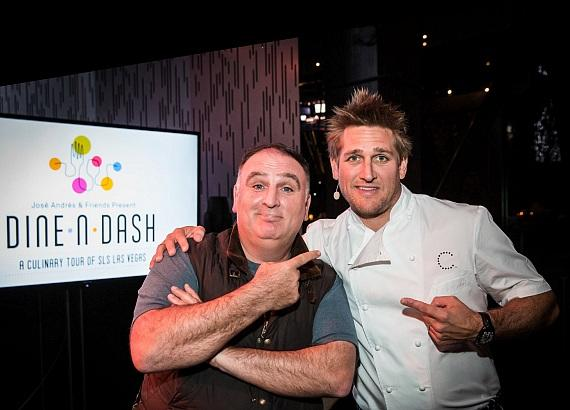 Chefs Jose Andres and Curtis Stone at Dine-N-Dash at SLS Las Vegas