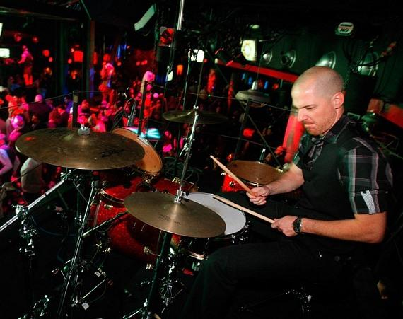 Christopher Wight on drums at Electric Dream, Studio 54