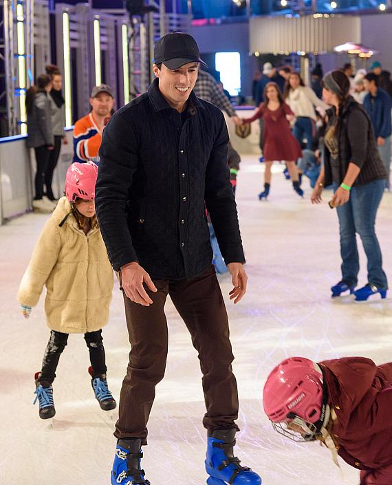 Vegas Golden Knights Marc-André Fleury and Max Pacioretty Host Third Annual Tree Lighting Ceremony at The Ice Rink at The Cosmopolitan of Las Vegas