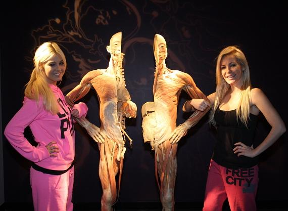 Crystal Harris and Ciara Price at BODIES...The Exhibition