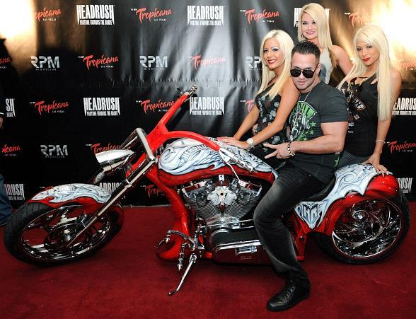 """Mike """"The Situation"""" Sorrentino is presented with custom made chopper"""