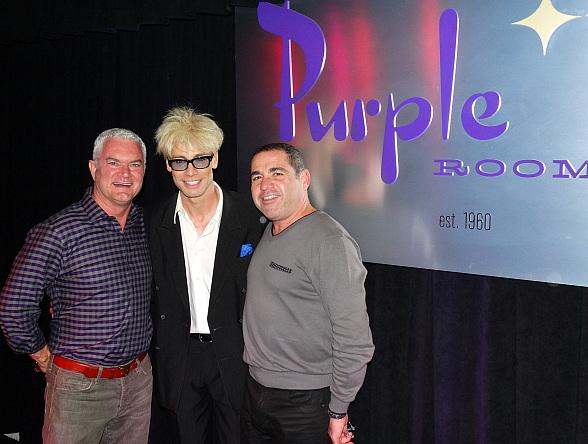 Murray SawChuck (center) with owners Mark Van Laanen and Tony Marchese