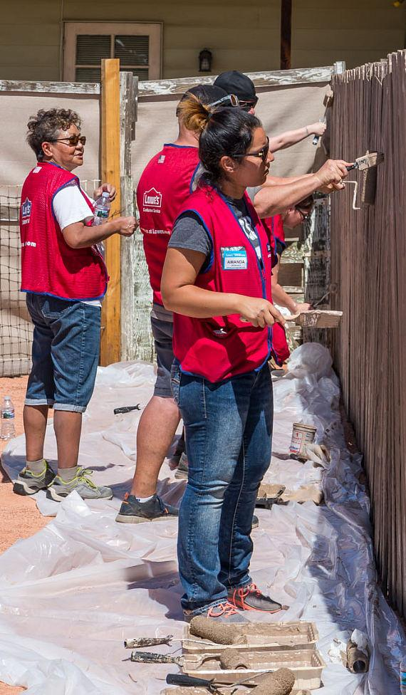 Rebuilding Together Southern Nevada Partners with Lowe's to Rebuild Four Homes and The Henderson Scout House for Girl Scouts of Southern Nevada