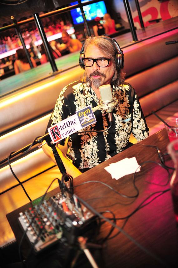 Author P. Moss Goes 'On Air with Robert & CC' at PBR Rock Bar in Las Vegas