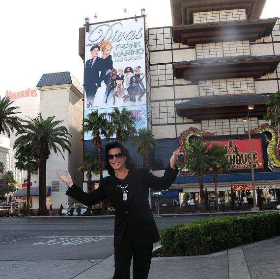 ank Marino stands in front of his first ever building wrap on the Las Vegas Strip at Imperial Palace Hotel & Casino
