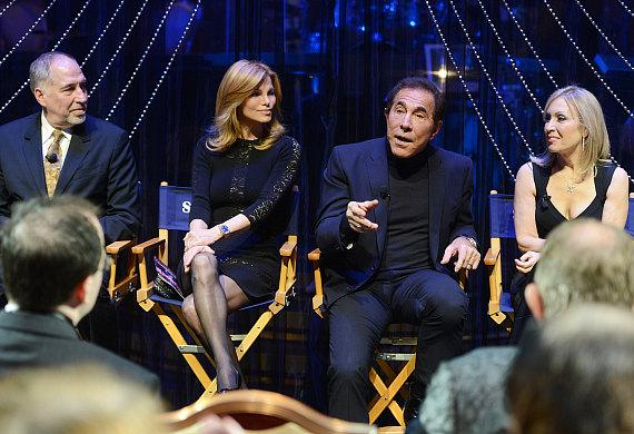Steve Wynn's ShowStoppers director Philip Wm. McKinley, Andrea Wynn, Steve Wynn and choreographer Marguerite Derricks during the press conference following the grand opening of Steve Wynn's ShowStoppers at Encore Theater at Wynn Las Vegas