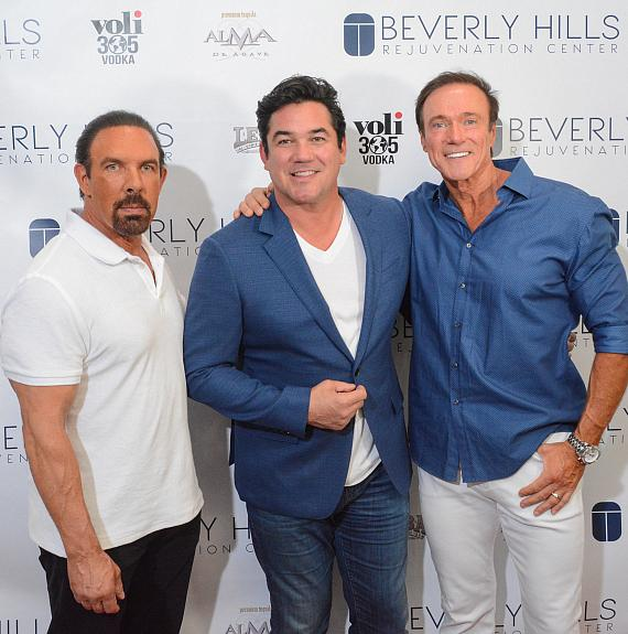 Dan Holtz, Dean Cain and Devin Haman at Beverly Hills Rejuvenation Center Downtown Summerlin's Grand Opening Event