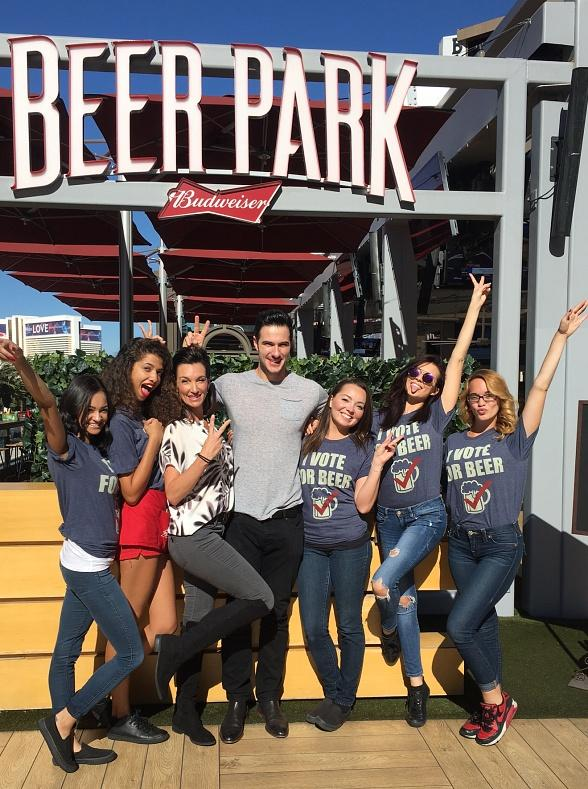 """""""Bachelor in Paradise"""" star Daniel Maguire spotted at Beer Park at Paris Las Vegas"""