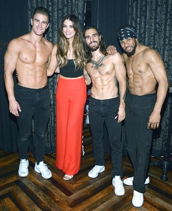 """Australian Singer and Coach of The Voice Australia Delta Goodrem Stops by """"Magic Mike Live"""" Inside the Hard Rock Hotel & Casino in Las Vegas"""