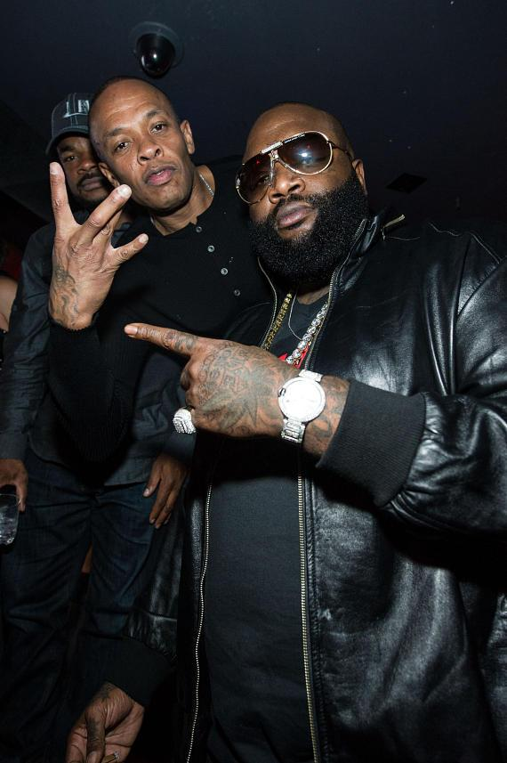 Dr Dre and Rick Ross at Marquee Nightclub