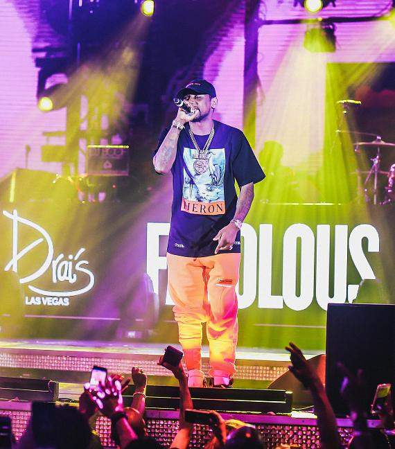 Singer-Songwriter Fabolous Performs at Drai's Live in Las Vegas; The Weeknd Spotted in Audience