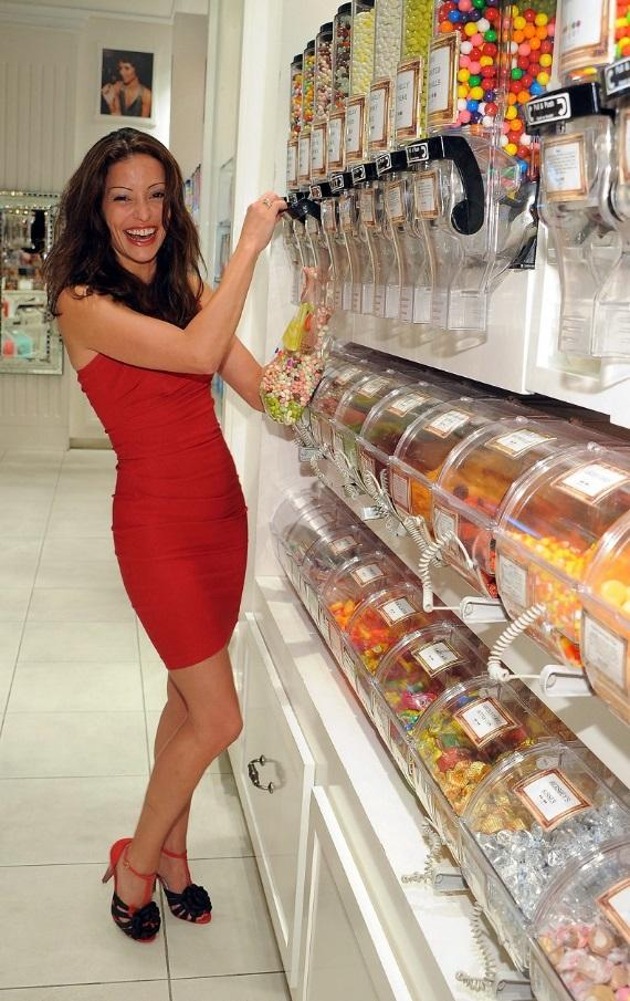 Emmanuelle Vaugier stocking up on Jelly Belly candies