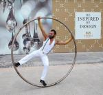 Entertainers perform for crowd at Tivoli Village Ribbon Cutting Ceremony