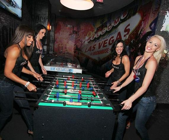 FANTASY ladies playing foosball at Rockhouse