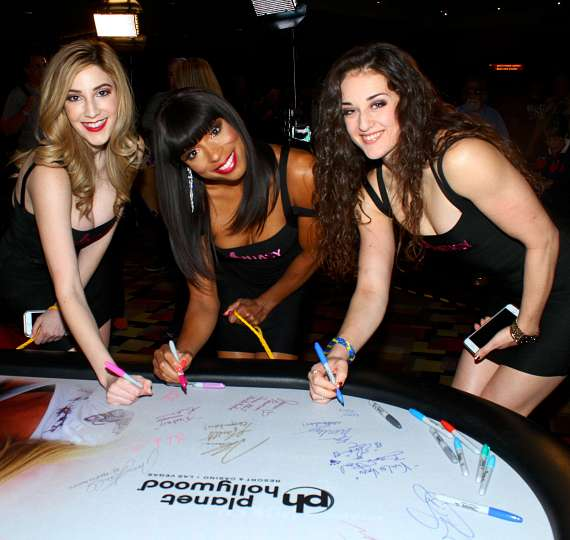 FANTASY dancers Sonya, Soolin and Delicia at Jennifer Harman NSPCA Poker Tournament at Planet Hollywood Las Vegas